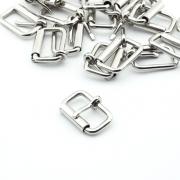 10 Stück Rollschnalle 20mm x 15mm silber