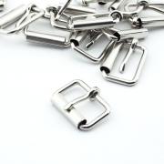 10 Stück Rollschnalle 26mm x 15mm silber