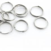 10er Pack Schlüsselring 20mm silber