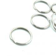 10er Pack Schlüsselringe 21mm silber