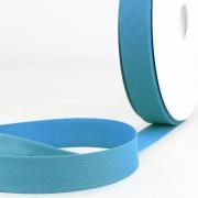 Schrägband blau aus Baumwolle PES 20mm