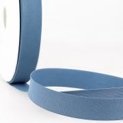 Schrägband jeansblau aus Baumwolle PES 20mm