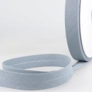 Schrägband blaugrau aus Baumwolle PES 20mm