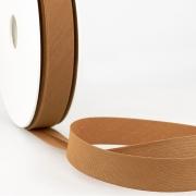 Schrägband braun aus Baumwolle PES 20mm