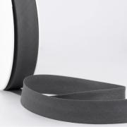 Schrägband dunkelgrau aus Baumwolle PES 20mm