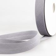 Schrägband hellgrau aus Baumwolle PES 20mm