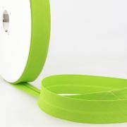 Schrägband hellgrün aus Baumwolle PES 20mm