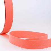 Schrägband lachs aus Baumwolle PES 20mm