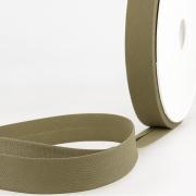 Schrägband oliv aus Baumwolle PES 20mm