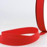 Schrägband rot aus Baumwolle PES 20mm