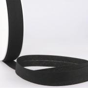 Schrägband schwarz aus Baumwolle PES 20mm