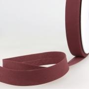 Schrägband weinrot aus Baumwolle PES 20mm