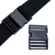 Metall-Steckschnalle 50mm schwarz gerade