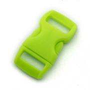 5 Steckverschlüsse 10mm neon grün