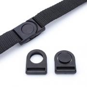 Steckverschluss schwarz 20mm
