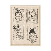 Stempel Weihnachtsgrüße 6 x 8,5 cm
