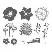 Stempel-Set Blumen 10 Stk.