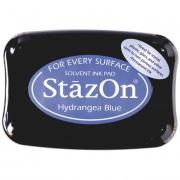 Stempelkissen 10 x 7 cm hydrangea blue