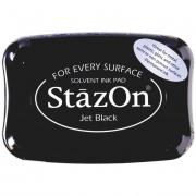 Stempelkissen 10 x 7 cm schwarz jet black