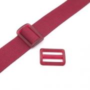 Gurtband-Regulierer 40mm dunkelrot transparent