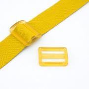 Gurtband-Regulierer 40mm gelb transparent