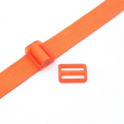 Gurtband-Regulierer 25mm orange transparent