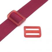Gurtband-Regulierer 40mm rot transparent