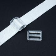 Gurtband-Regulierer 25mm transparent
