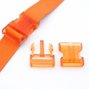 Steckverschluss 40mm orange transparent
