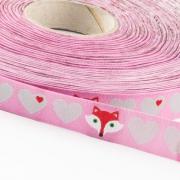 byGraziela Herzen mit Fuchs, rosa-grau 15mm