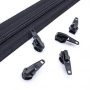 10 Schieber schwarz 5mm autolock
