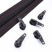 10 Schieber schwarzbraun 5mm autolock