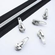 10 Schieber silber 5mm autolock