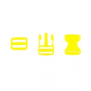 Taschenverschluss mit Regulierer 25mm gelb