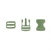 Taschenverschluss mit Regulierer 25mm oliv