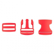 Taschenverschluss mit Regulierer 40mm rot