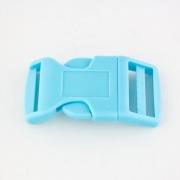 Steckschnalle 20 mm gebogen hellblau