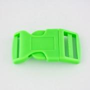 Steckschnalle 20 mm gebogen hellgrün