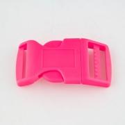 Steckschnalle 20 mm gebogen pink