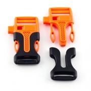Steckschnalle 20mm mit Pfeife orange