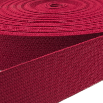 Baumwoll-Gurtband dunkelrot 30mm