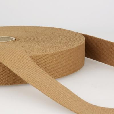 Gurtband Baumwolle zimt 30mm