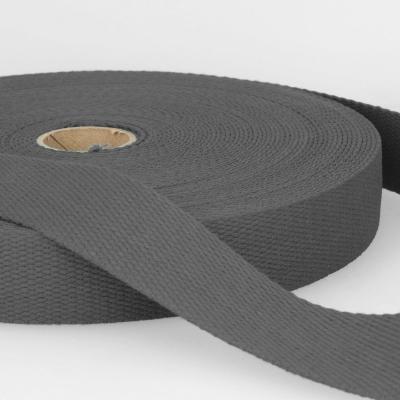 Gurtband Baumwolle dunkelgrau 30mm