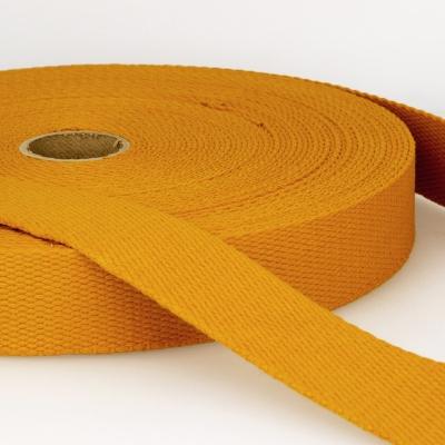Gurtband Baumwolle goldgelb 40mm