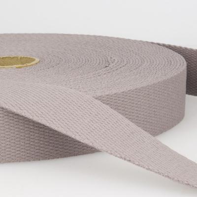 Gurtband Baumwolle grau 25mm