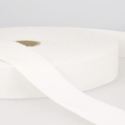 Gurtband Baumwolle weiß 25mm