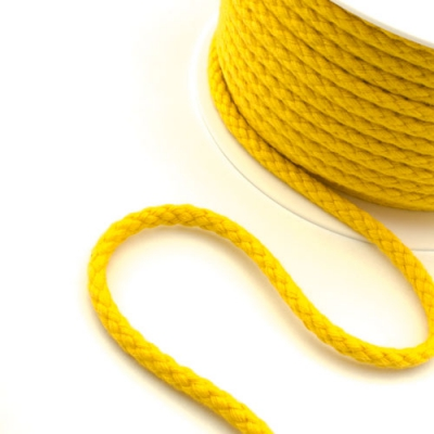 Baumwollkordel 8mm gelb