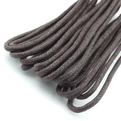 3m Baumwollkordel gewachst schwarzbraun 2mm