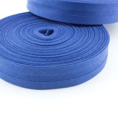 Schrägband blau aus Baumwolle 20mm