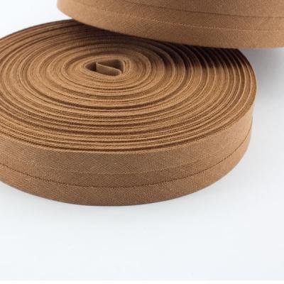 Schrägband bernstein braun aus Baumwolle 20mm